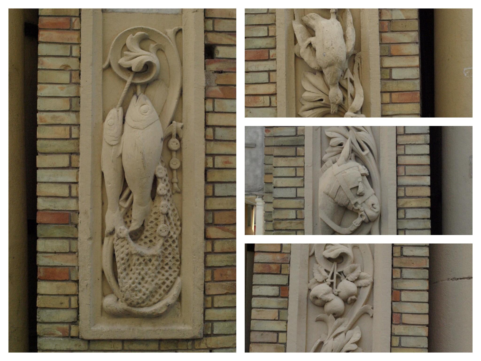 Los oficios relacionados con la alimentación humana en la fachada principal