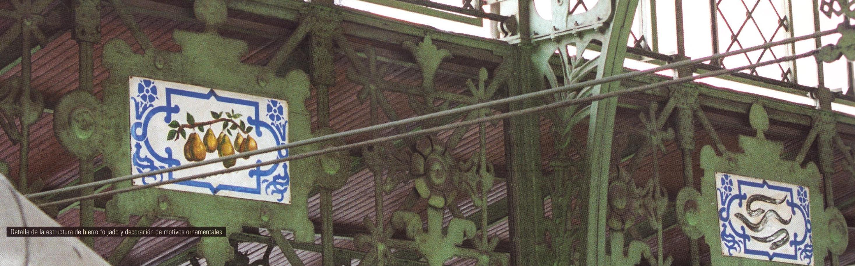 Elementos ornamentales de la estructura interior de hierro