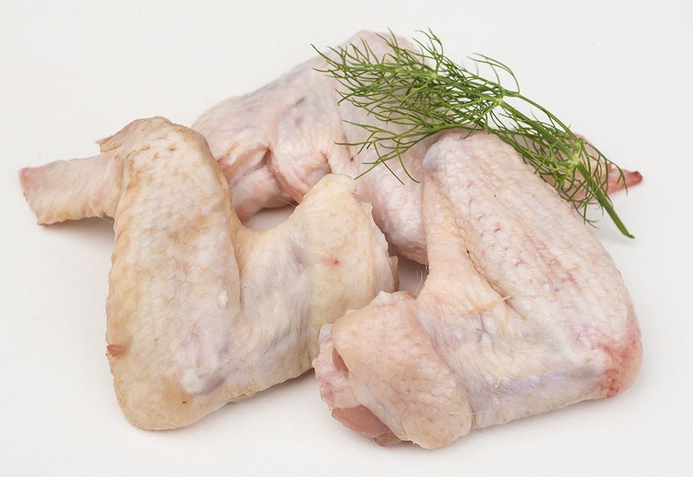 Alas de pollo rellenas de setas y gambas